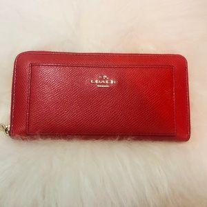 Coach Orange Long Wallet